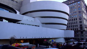 The Solomon Guggenheim Museum New York USA cityscapes stock video
