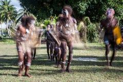 Solomon Island Dancers Stockbilder