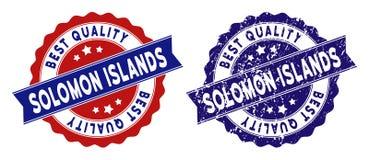 Solomon Islands Best Quality Stamp con la superficie della polvere Fotografie Stock Libere da Diritti