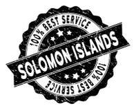 Solomon Islands Best Service Stamp con stile di emergenza Immagini Stock