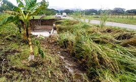 Solomon Islands cyclone and flooding. In 2014 Stock Image