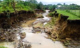 Solomon Islands cyclone and flooding. In 2014 Royalty Free Stock Images