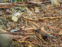 Solomon Islands cyclone and flooding. In 2014 Royalty Free Stock Image