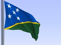 Solomon islands flag Stock Photos