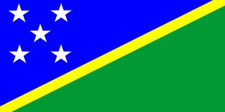 Solomon Islands Flag Stock Images