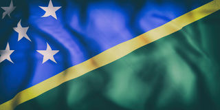 Solomon Islands Flag Fotografie Stock