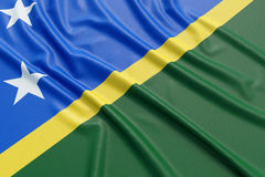 Solomon Islands Flag Fotos de archivo libres de regalías