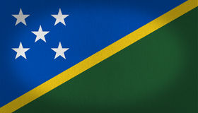 Solomon Islands Flag Foto de Stock Royalty Free