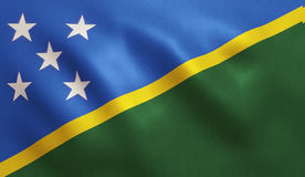 Solomon Islands Flag Fotografia de Stock