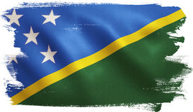 Solomon Islands Flag Fotografia Stock Libera da Diritti