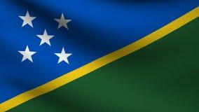 Solomon islands flag stock video