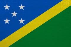 Solomon Islands flag on canvas. Patriotic background. National flag of Solomon Islands royalty free illustration