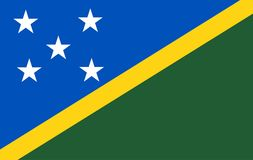 Solomon Islands Flag lokalisierte stock abbildung