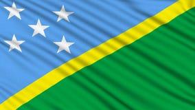 Solomon Islands Flag. stock video