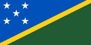 Solomon Islands Flag Vector. Illustration Of Solomon Islands Royalty Free Stock Photos