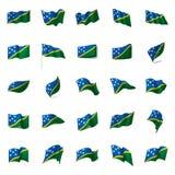 Solomon Islands flag, vector illustration Royalty Free Stock Image