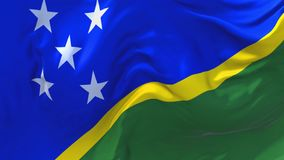 257 Solomon Islands Flag Waving en fondo inconsútil continuo del lazo del viento ilustración del vector