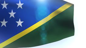 Solomon Islands flag waving in the wind wave. Video stock footage