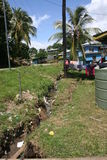 Solomon Islands. After the 2014 floods Royalty Free Stock Photos