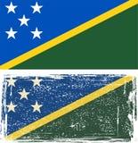 Solomon Islands grunge flag. Vector illustration Stock Photo