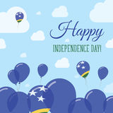 Solomon Islands Independence Day Flat patriote Photo stock