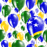 Solomon Islands Independence Day Seamless Pattern. Stock Photography
