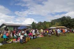 Solomon Islands Local Market Arkivbilder