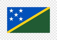 Solomon Islands - nationsflagga stock illustrationer