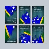 Solomon Islands Patriotic Cards para el día nacional ilustración del vector