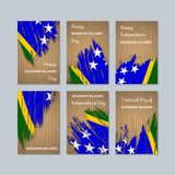 Solomon Islands Patriotic Cards per la festa nazionale illustrazione di stock