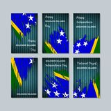 Solomon Islands Patriotic Cards per la festa nazionale illustrazione vettoriale