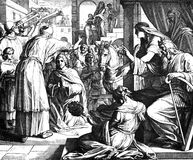 Solomon Named to Succeed David. 1) Sacred-biblical history of the old and New Testament. two Hundred and forty images Ed. 3. St. Petersburg, 2) 1873. 3) Russia Stock Photo