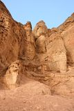 Solomon pillars rock in Timna national desert park Stock Photos