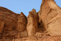 Solomon pillars rock in Timna park, Israel Royalty Free Stock Image