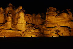 Solomon pillars in Timna park. This shot was taken in winter time at the National geological and historical park Timna, Israel Stock Photos