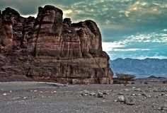 Solomon pillars in Timna park Royalty Free Stock Image