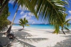 Solomon pla?a, St John, USA Dziewicze wyspy obraz stock