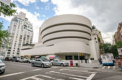 The Solomon R. Guggenheim Museum. NEW YORK - JUL 17: The famous Solomon R. Guggenheim Museum of modern and contemporary art, on July 17, 2014 in New York City Royalty Free Stock Image