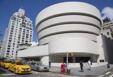 Solomon R Guggenheimmuseum van moderne en eigentijdse kunst in Manhattan Royalty-vrije Stock Afbeelding