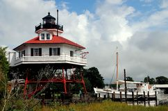 Solomon`s Island, MD: Drum Point Lighthouse Stock Images