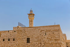 Solomon's temple and Al-Aqsa Mosque minaret Jerusalem Royalty Free Stock Photo