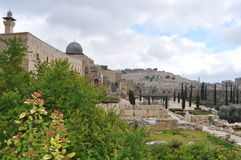 Solomon's Temple and the Wailing Wall Stock Photography