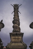 Solomonic column at Oporto cathedral Royalty Free Stock Images