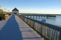 Solomons Island. Boardwalk, MD, USA Royalty Free Stock Photography