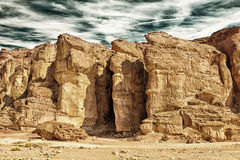 The Solomons Pillars in Israel HDR Royalty Free Stock Photography
