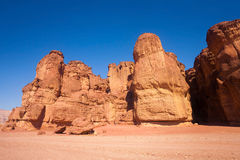Solomons Pillars in Timna Park Stock Photography