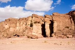 Solomon�s Pillars, Timna park, Israel Stock Photo