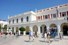 Solomos Square in Zante town Stock Image