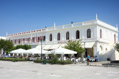 Solomos Square in Zante town on Zakynthos island Stock Photos