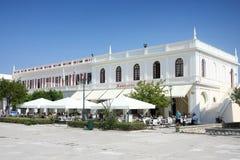 Solomosvierkant in Zante-stad op het eiland van Zakynthos stock foto's